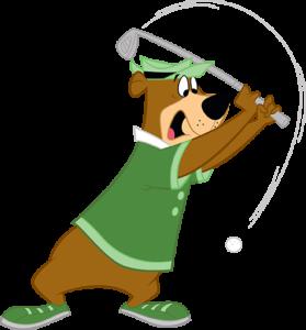 yogi bear™ golfing
